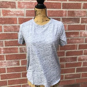 Heather gray cotton tee